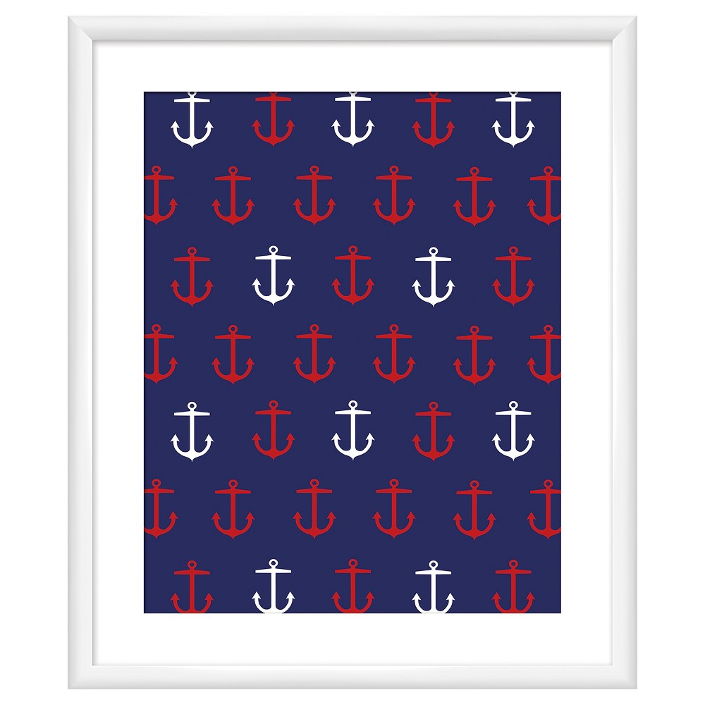 Nautical Achor I 18X22 Wall Art, Multi-Colored