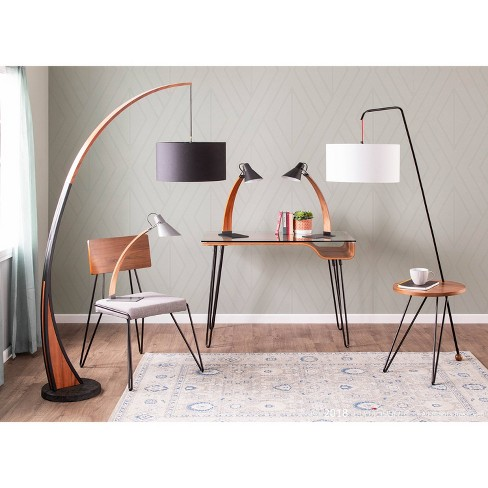546add94c00d2 Noah Mid Century Modern Floor Lamp with Walnut Frame and Marble Base (Lamp  Only) - Lumisource