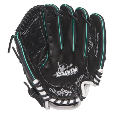 """Rawlings Playmaker Series 11"""" T Ball Glove - Black/Red"""