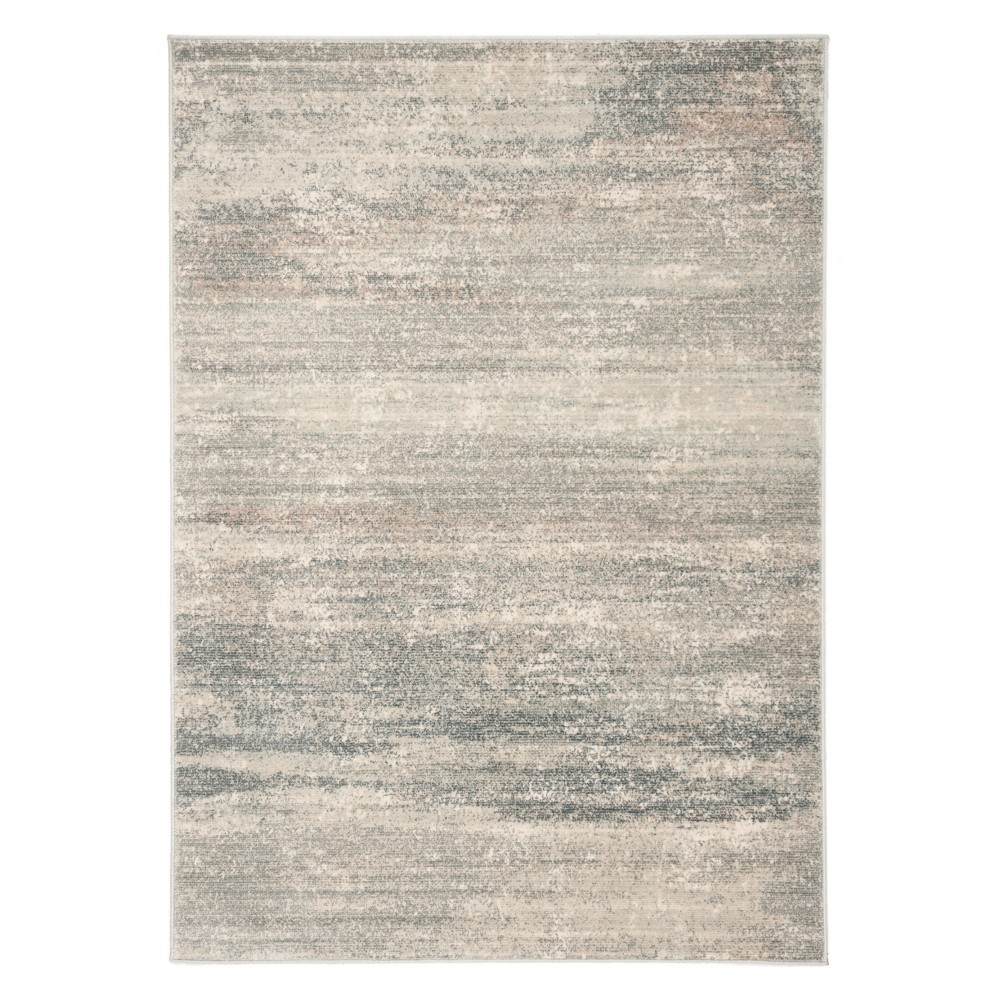4'X5'7 Solid Loomed Area Rug Light Blue/Ivory - Safavieh