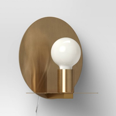 Circle Sconce Wall Light (Includes LED Light Bulb)Brass - Project 62™
