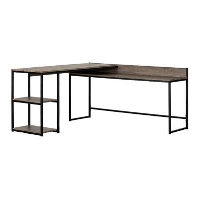 Evane L Shaped Desk Oak Camel - South Shore