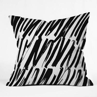 "16""x16"" Rebecca Allen Covered Throw Pillow Black/White - Deny Designs"