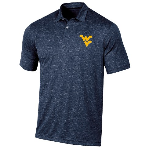 West Virginia Mountaineers Men's Short Sleeve Twisted Jersey Polo Shirt - image 1 of 2
