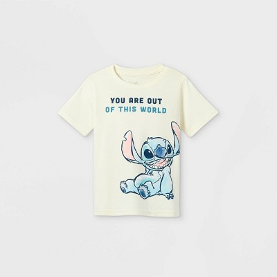 Toddler Boys' Disney Lilo & Stitch Short Sleeve Graphic T-Shirt - Off-White - Disney Store