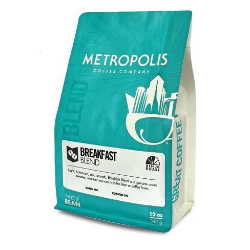 Metropolis Coffee Breakfast Blend Medium Roast Whole Bean Coffee - 12oz - image 1 of 3