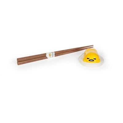 Se7en20Gudetama the Lazy Egg Chopstick Set with Ceramic Holder