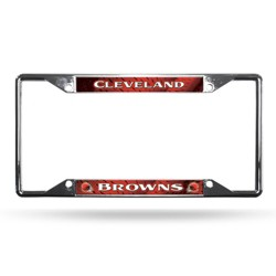 NFL Cleveland Browns View Chrome License Plate Frame