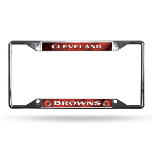 NFL Cleveland Browns View Chrome License Plate Frame - image 1 of 3