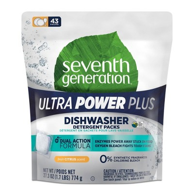Seventh Generation Ultra Power Plus Auto Dish Packs - 43ct