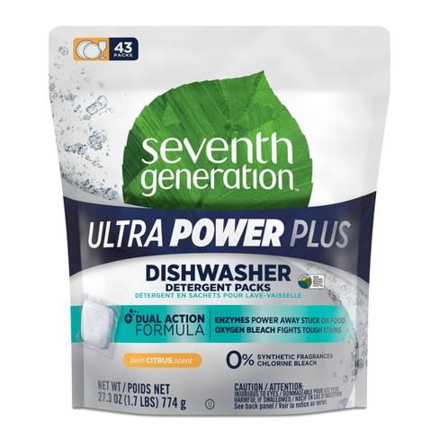 Seventh Generation Ultra Power Plus Dishwasher Detergent Packs – 43ct - image 1 of 4