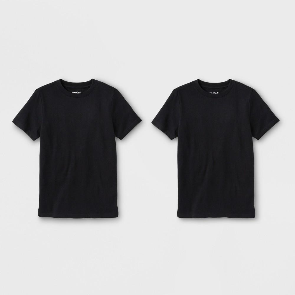 Boys' 2pk Short Sleeve T-Shirt - Cat & Jack Black XL