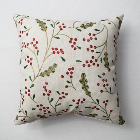Berries Throw Pillow Cream - Threshold™ - image 1 of 2
