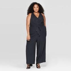 Women's Plus Size Sleeveless V-Neck Jumpsuit - Universal Thread™