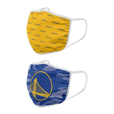 NBA Golden State Warriors Adult Face Covering 2pk