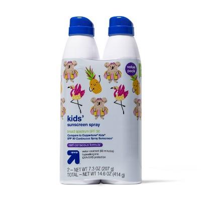Kids Sunscreen Spray Twin Pack - SPF 50 - 14.6oz - up & up™