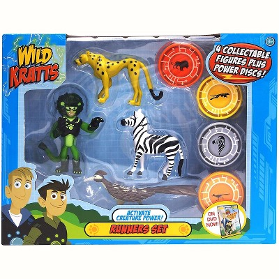 Jazwares Wild Kratts Action Figure Toy Set - Activate Creature Power - Runners, Set of 4