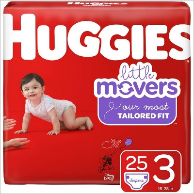 Huggies Little Movers Diapers - Size 3 (25ct)