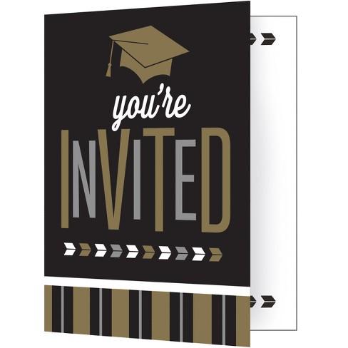 8ct silver and gold glitz graduation invitations target