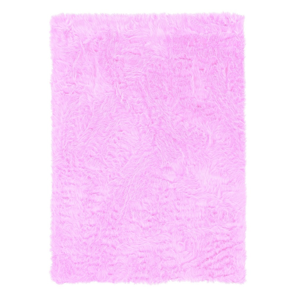 "Image of ""Faux Sheepskin Accent Rug - Pink (22""""x34"""")"""