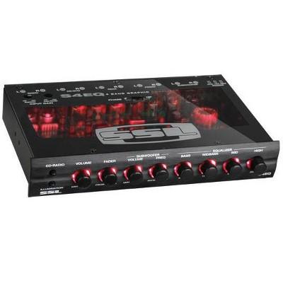 Soundstorm SSL S4EQ 4 Band Pre Amp Graphic Car Audio Stereo Equalizer EQ w/ Knob
