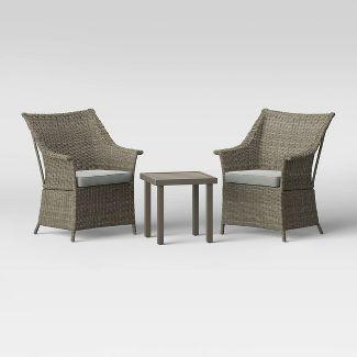 Foxborough 3pc Patio Chat Set - Gray - Threshold™