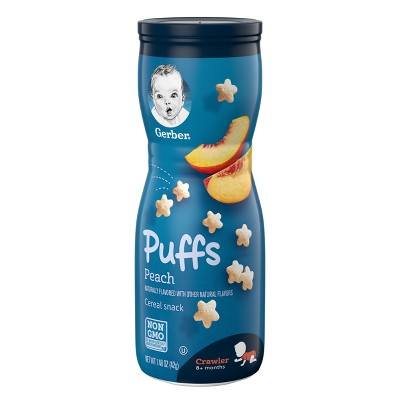 Gerber Puffs Peach - 1.48oz