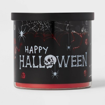 15oz Lidded Glass Jar Happy Halloween Candle - Hyde & EEK! Boutique™
