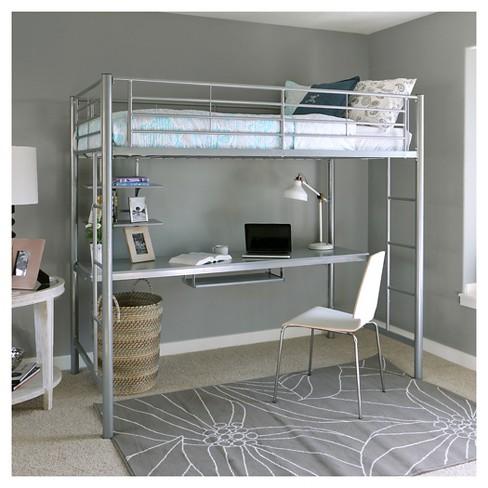 Kids Workstation Bunk Bed Twin Metal Saracina Target