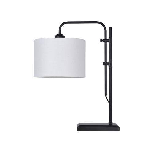 Knox Adjustable Shaded Table Lamp Black  - Threshold™ - image 1 of 1