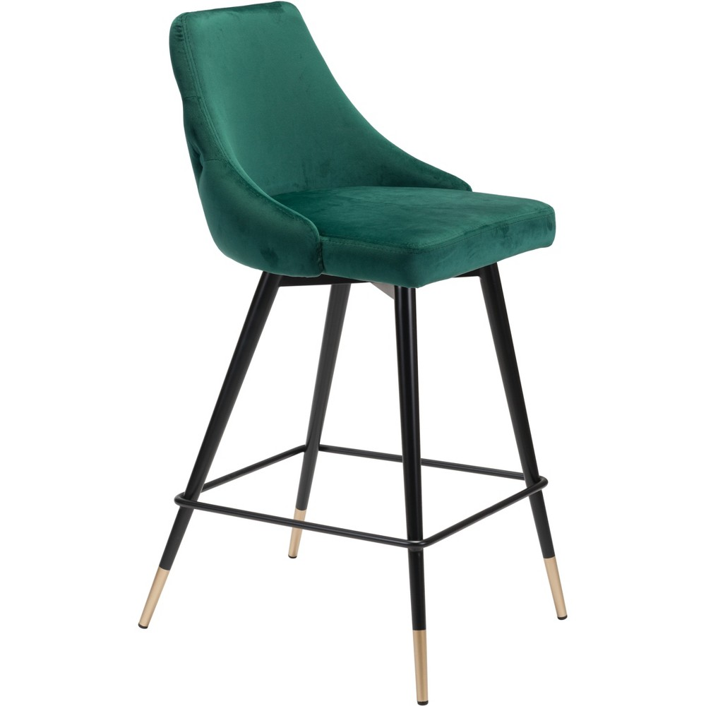 26 Luxe Velvet Counter Chair Green - ZM Home
