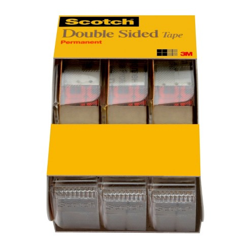 """Scotch 3pk Double Sided Tape 1/2"""" x 250"""" - image 1 of 4"""