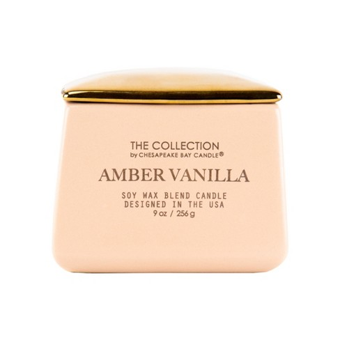 9oz Matte Square Container Candle Amber Vanilla - The Collection By Chesapeake Bay Candle - image 1 of 2
