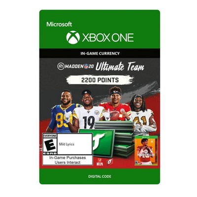 Madden NFL 20: Ultimate Team 2200 Points - Xbox One (Digital)