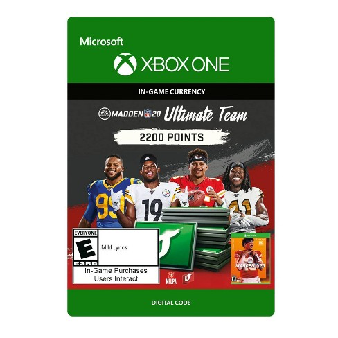 Madden NFL 20: Ultimate Team 2200 Points - Xbox One (Digital) - image 1 of 1