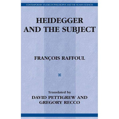 Heidegger & the Subject - (Contemporary Studies in Philosophy and the Human Sciences) (Hardcover) - image 1 of 1