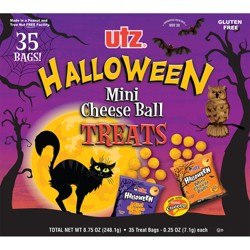 Utz Halloween Mini Cheese Ball Treats - 35ct
