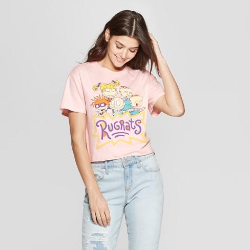 28298fc1 Women's Short Sleeve Rugrats Crop Cropped T-Shirt - (Juniors') - Pink. Shop  all Nickelodeon