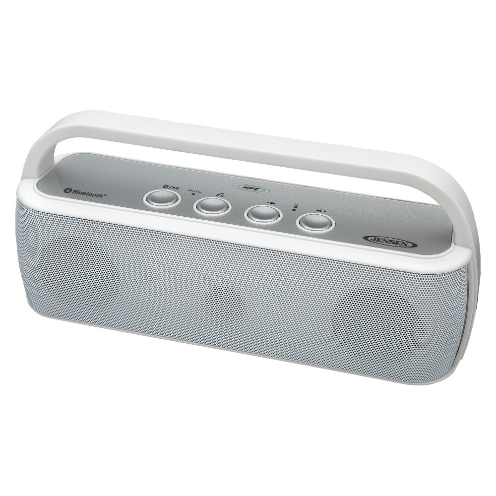 Jensen Portable Bluetooth Wireless Stereo Rechargeable Speaker - White (Smps-627-W)