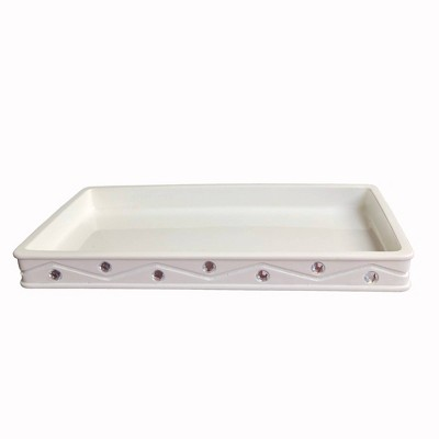 Diamond Wave Vanity Tray White - Popular Bath