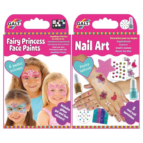 Galt Activity 2 Pack Nail Art Fairy Princess Face Paints Target