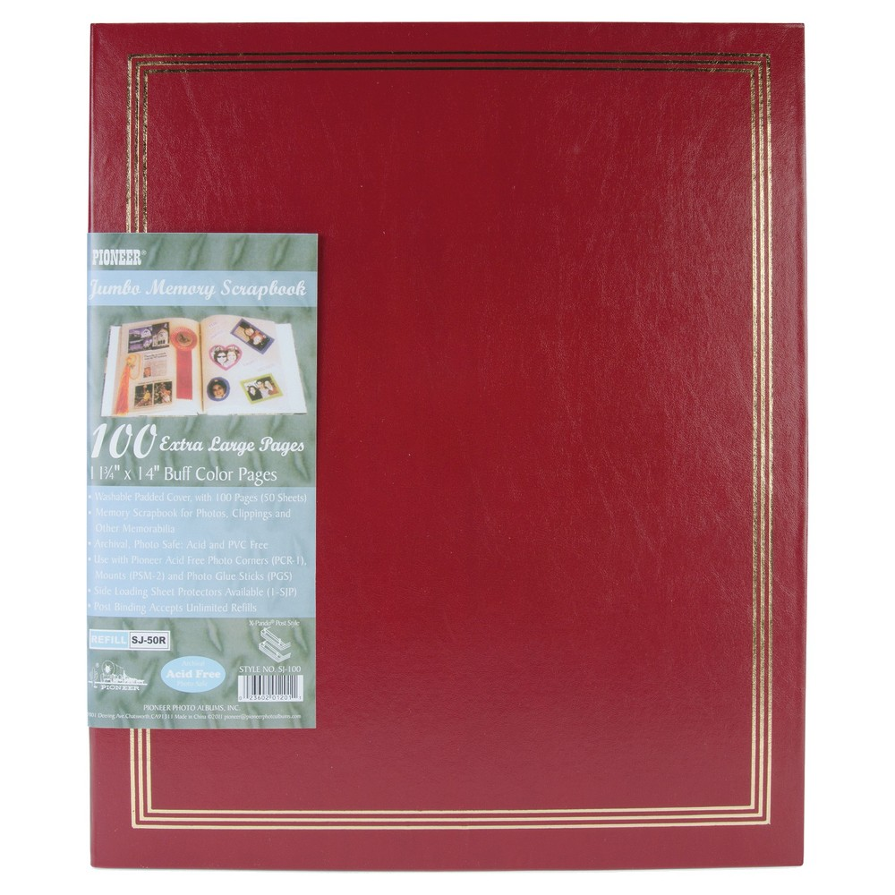 "Image of ""Post Bound Jumbo Album - Burgundy (11""""x14""""), Red"""