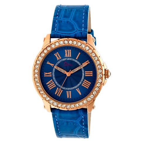 Women's Boum Belle Watch with Crystal Surrounded Bezel- Blue - image 1 of 3