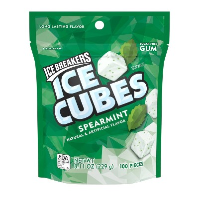 Ice Breakers Ice Cubes Spearmint Gum - 8.11oz/100ct