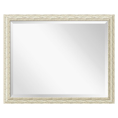 Cape Cod White Wash Framed Wall Mirror - Amanti Art