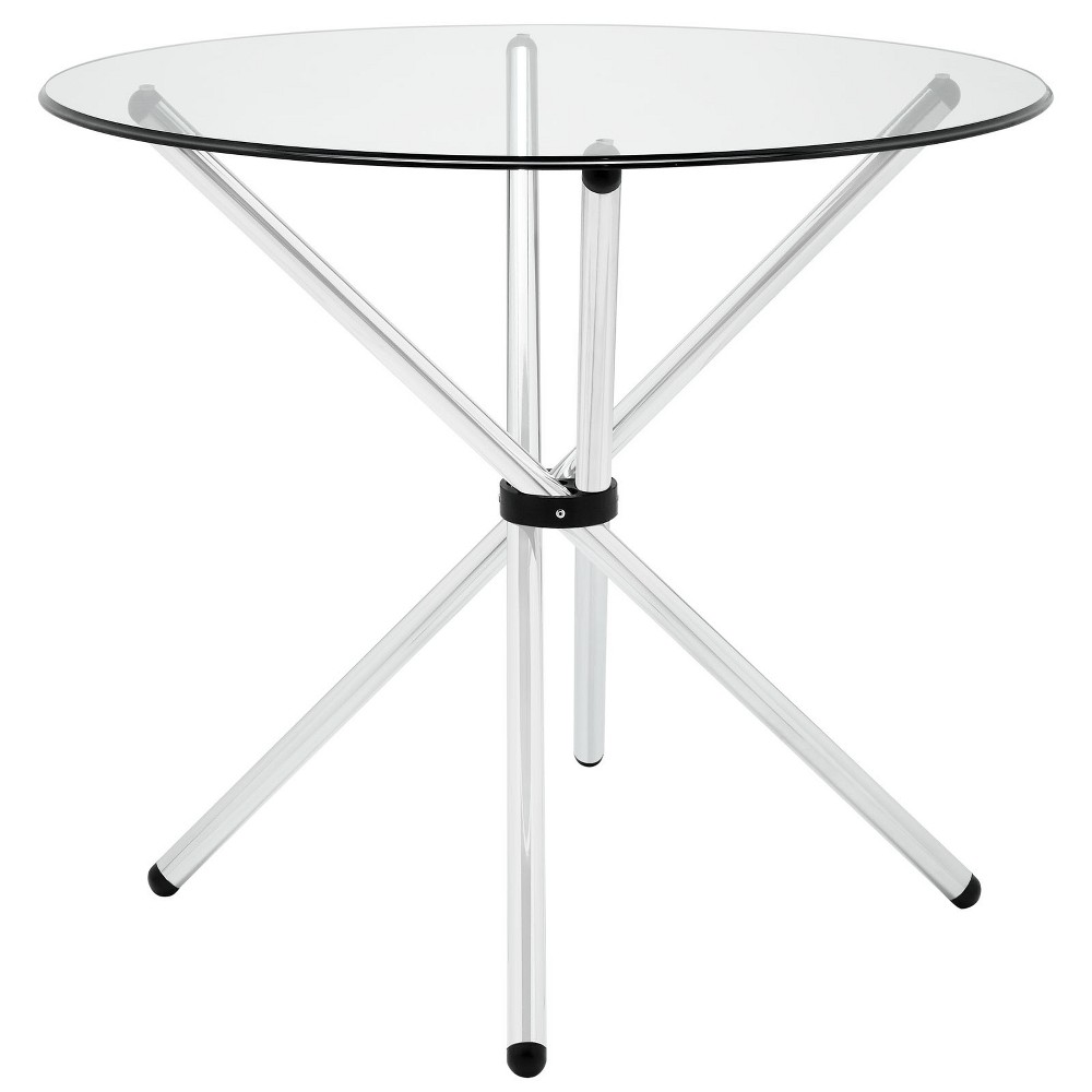Baton Round Dining Table Clear - Modway