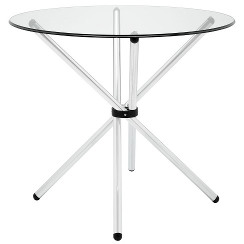 Baton Round Dining Table Clear - Modway - image 1 of 4