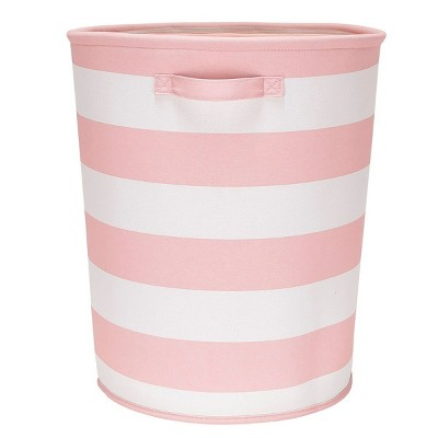 Striped Fabric Floor Bin Round Pink - Pillowfort™