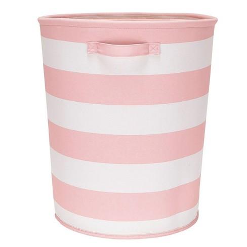 Round Striped Fabric Floor Toy Storage Bin Pink - Pillowfort™ - image 1 of 2