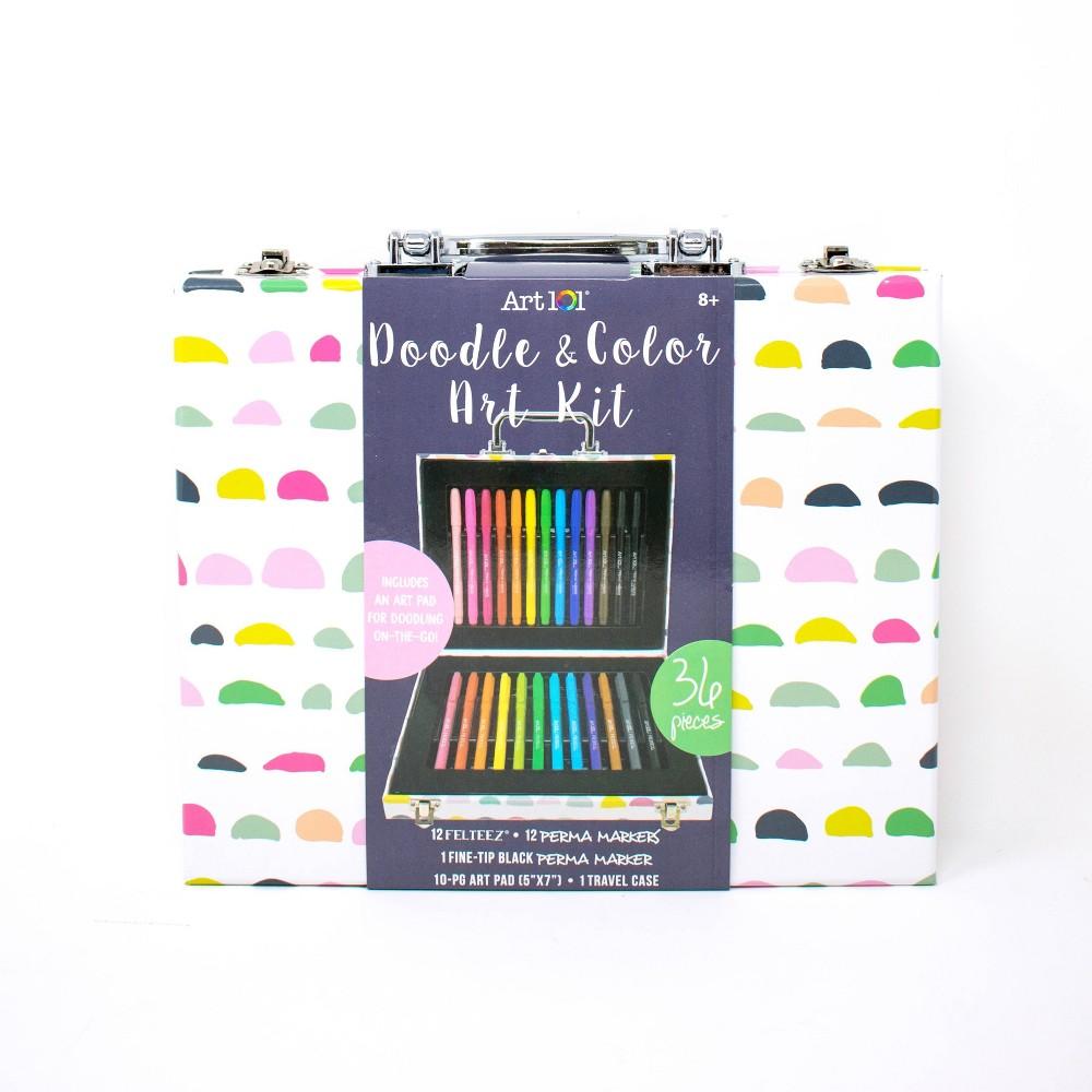 Image of Art 101 36pc Doodle & Color Art Kit